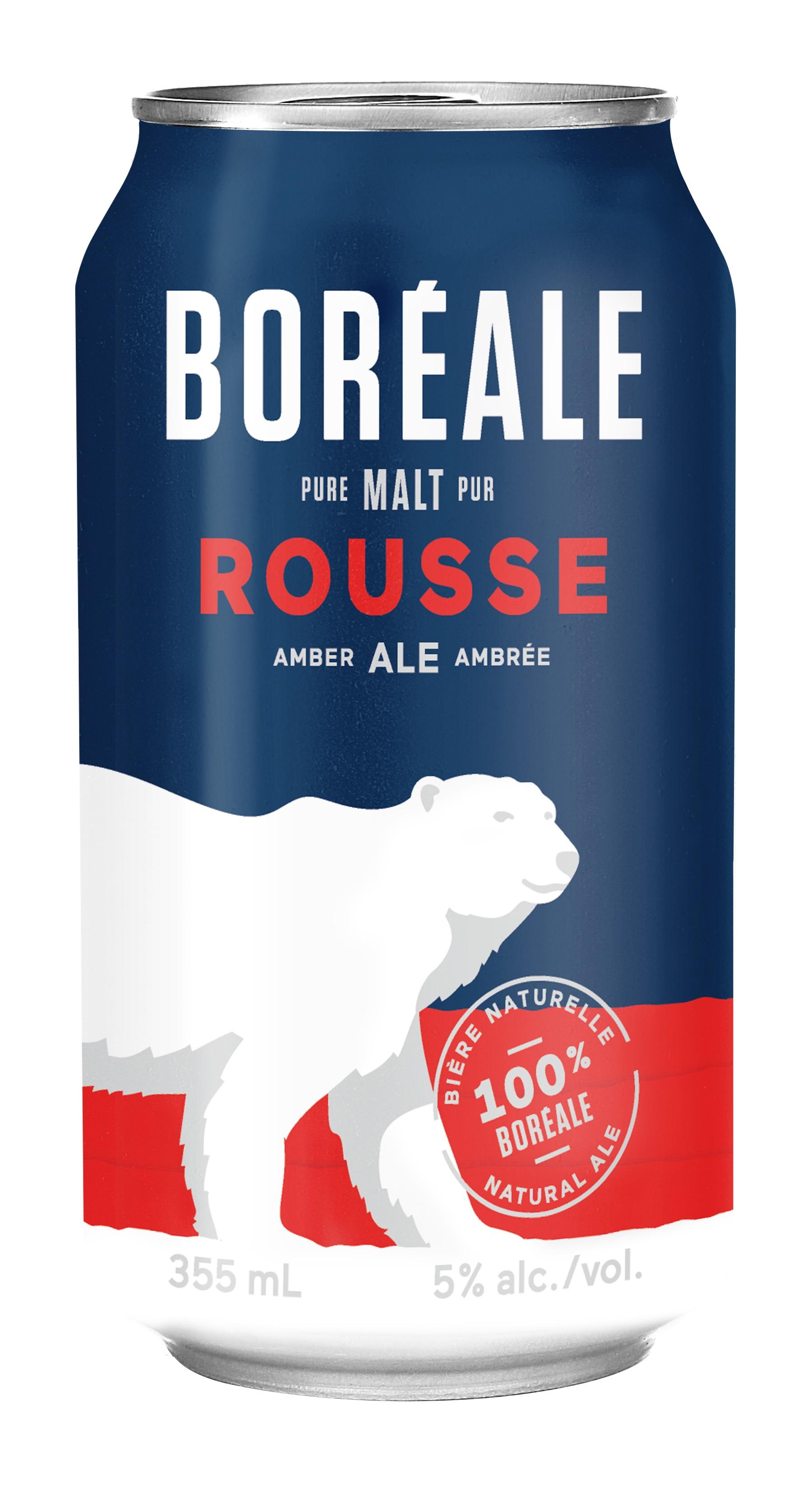 Bière Rousse de type Ale - canette*_*Beer Rousse type Ale 473 mL - can*_*Cerveza IP Rousse 473 mL - Lata