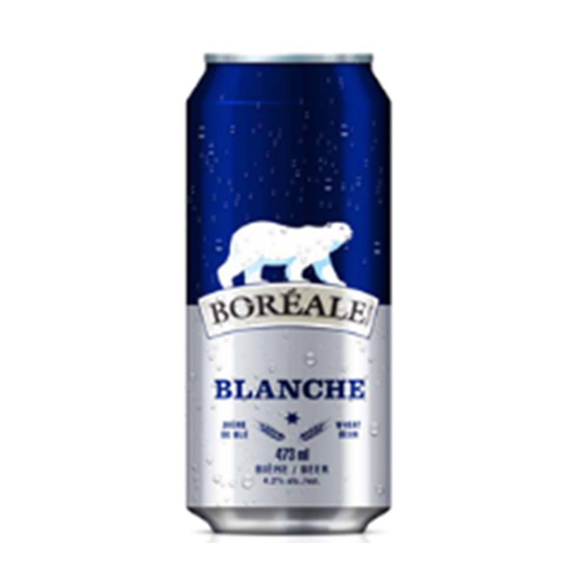 Bière Blanche 473 mL - canette*_*Beer Blanche  473 mL - can*_*Cerveza Blanche 473 mL - Lata