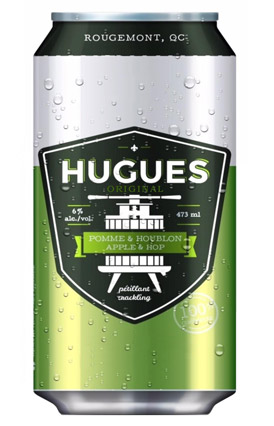 Cidre HUGUES Pomme & Houblon 473 mL*_*Cider HUGUES Apple & Hop 473 mL*_*Sidra HUGUES Manzana & Lúpulo 473 mL