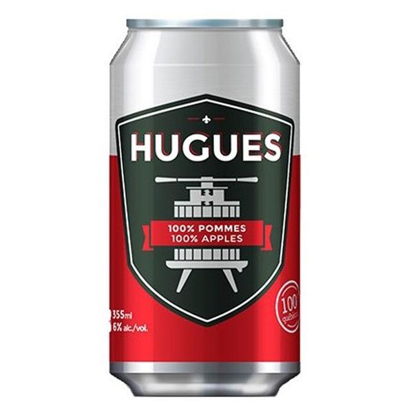 Cidre HUGUES 100% Pommes 355 mL*_*Cider HUGUES 100% Apples 355 mL*_*Sidra espumosa HUGUES 100% de manzanas 355 ml