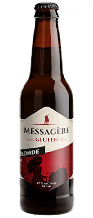 Bière Messagère Blonde - Bouteille 341 mL*_*Lager beer Messagere - Bottle 341 mL*_*Cerveza Lager Messagere - Botella 341 mL