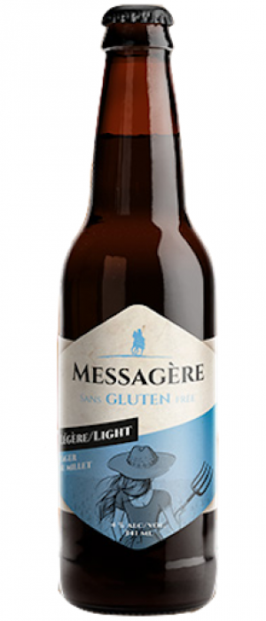 Bière Blonde Messagère Légère - Bouteille 341 mL*_*Lager Beer Messagere Light - Bottle 341 mL*_*Cerveza Lager Messagere Luz  6x341 mL
